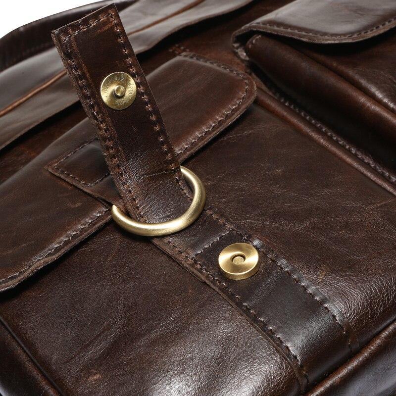 MVA Business porte-documents sacs hommes en cuir véritable sac pour Document 14 pochette d'ordinateur porte-documents en cuir sacs de bureau pour hommes 8001 - 3