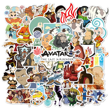 50PCS Avatar The Last Airbender Anime Stickers Skateboard Fridge Guitar Laptop Motorcycle Luggage Classic Toy Sticker anime avatar monster pet thumbnail funny spoof taste fridge magnet colourful squishy waterproof stickers kawaii toy recyclable
