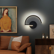 Modern LED Black Wall Lamp Bedroom Bedside Indoor Stairs Loft Living Room Line Hallway 10W Sconce Lighting Decoration Fixtures