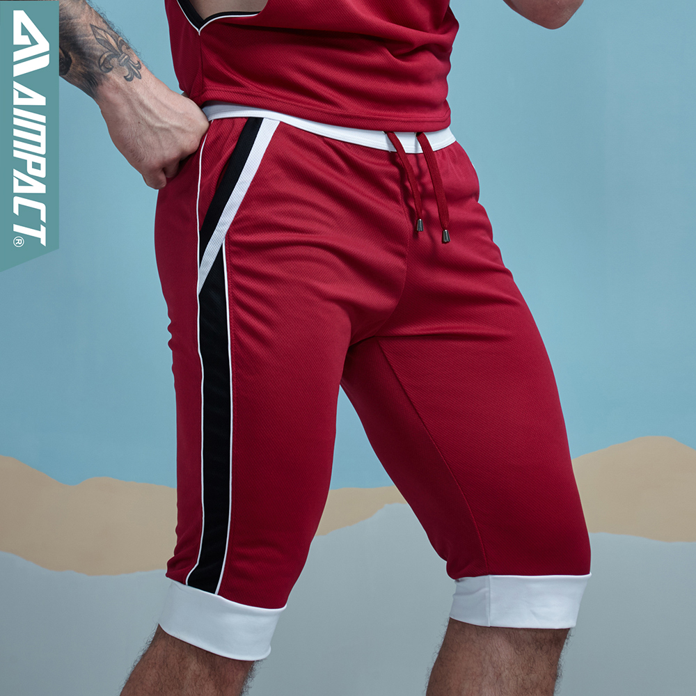 Aimpact Mesh Mens Shorts Bodybuilding Fitness Activewears Summer Leisure Home Wear Shorts Workout Sportive Shorts For Men SXZ048
