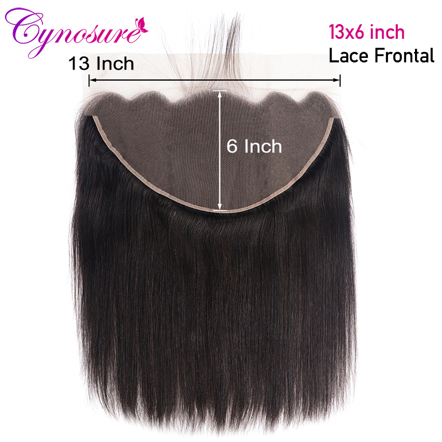 Cynosure 13x6 уха до уха Кружева Фронтальная закрытие натуральный цвет бразильские прямые волосы фронтальная 100% Remy человеческие волосы фронталь...