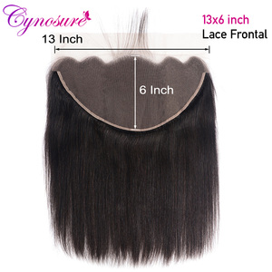Cynosure 13x6 Ear to Ear Lace Frontal Closure Natural Color Brazilian Straight Hair Frontal 100% Remy Human Hair Frontal(China)