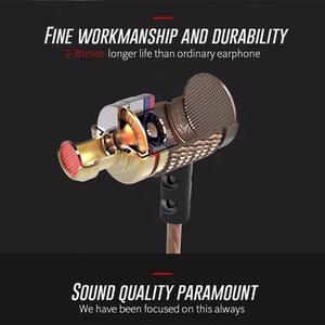 Image 3 - Kz EDR1 特別版ゴールドメッキハウジングマイク 3.5 ミリメートルで hd 耳モニター低音ステレオイヤフォン電話