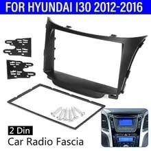 Color Name : Black Left Hand Drive MAMINGBO Mmbo 2 Din Radio Fascia Facia For Hyundai I30 FD I30CW Stereo Panel Radio Dash Kit Mounting Trim Frame