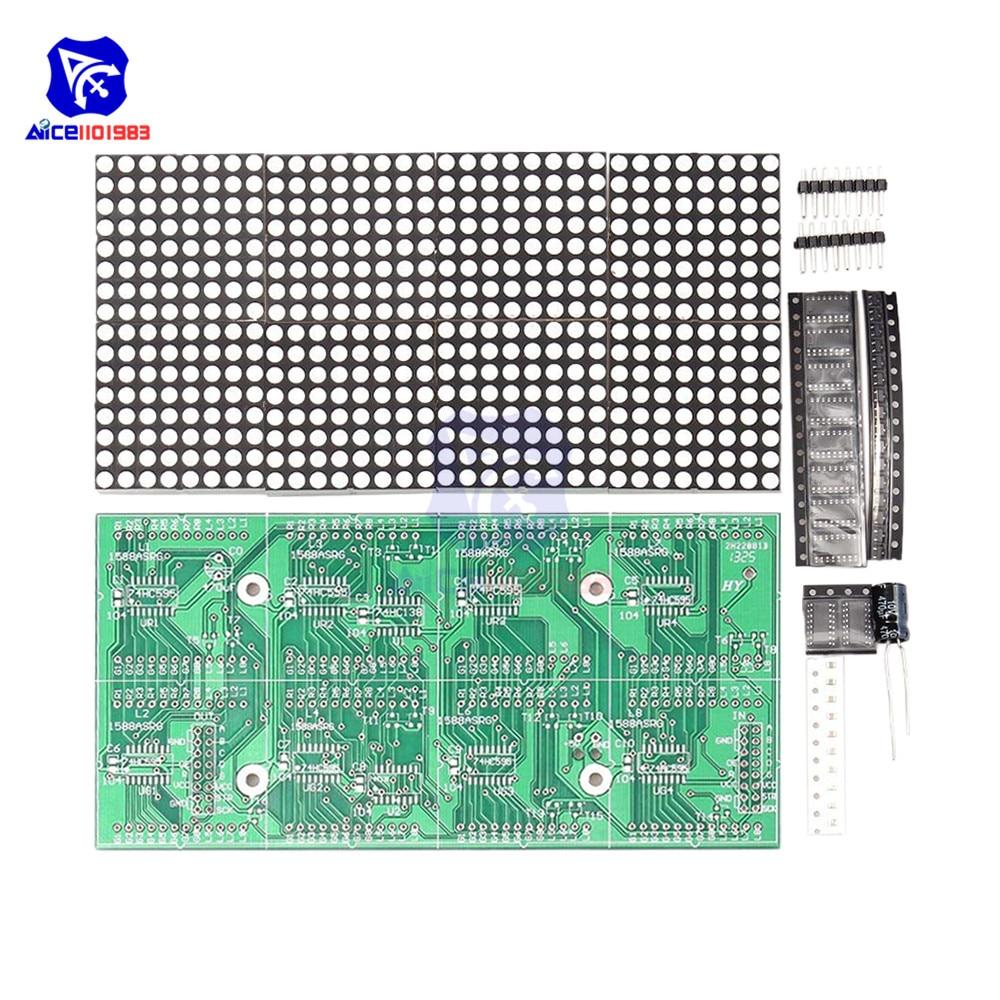 Diymore 16x32 красный зеленый светодиодный точечный матричный дисплей модуль DIY Kit для Arduino 51