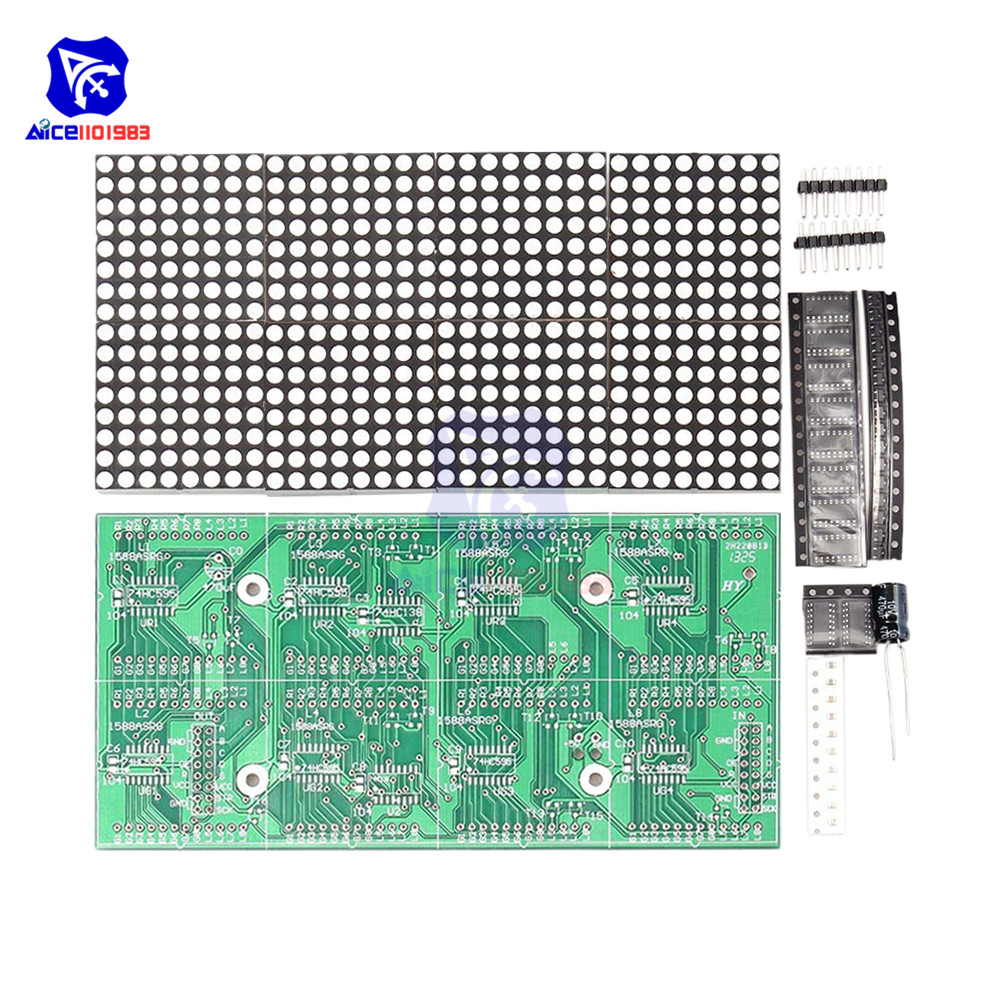 Diymore 16x32 Red Green LED Dot Matrix Control Display Module DIY Kit For Arduino 51