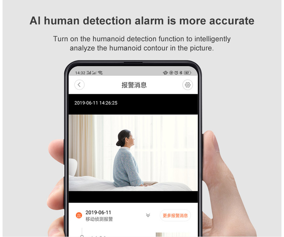 Mijia Xiaovv Smart IP camera 1080P 360 Degree Alarm Voice Intercom Motion Detection Infrared Night vision Cam For Mi Home APP
