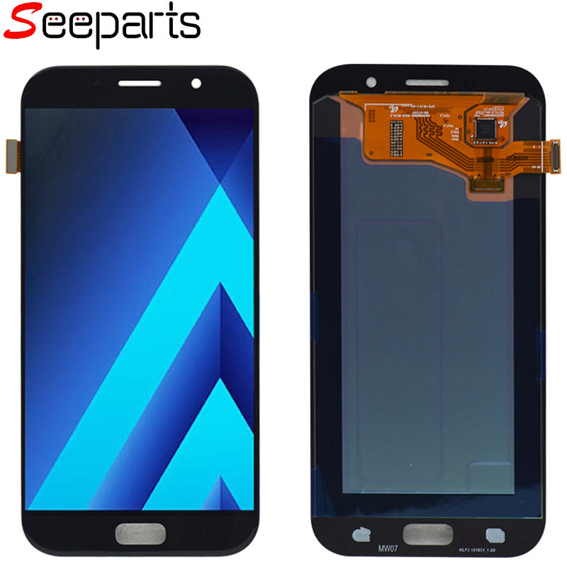 <font><b>SAMSUNG</b></font> GALAXY A7 2017 For <font><b>A720</b></font> A720F SM-A720F <font><b>LCD</b></font> Display Touch Screen Digitizer Assembly Replacement For 5.7