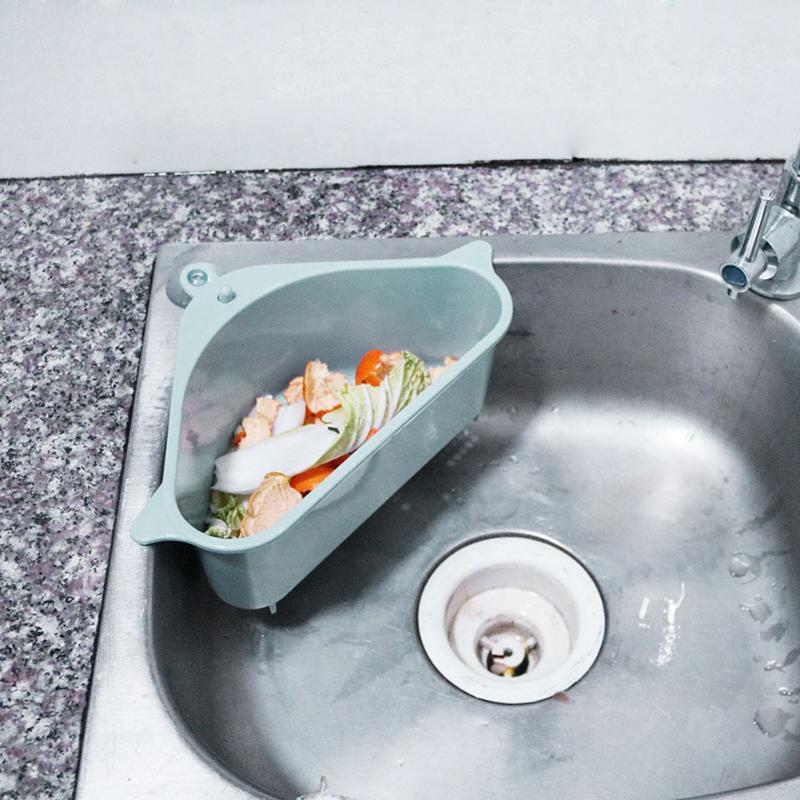 1pcs Multifunctional Kitchen Suction Cup Sink Storage Rack Washing Bowl Sponge Drain Basket Rack Home Kitchen Organizer Gadget