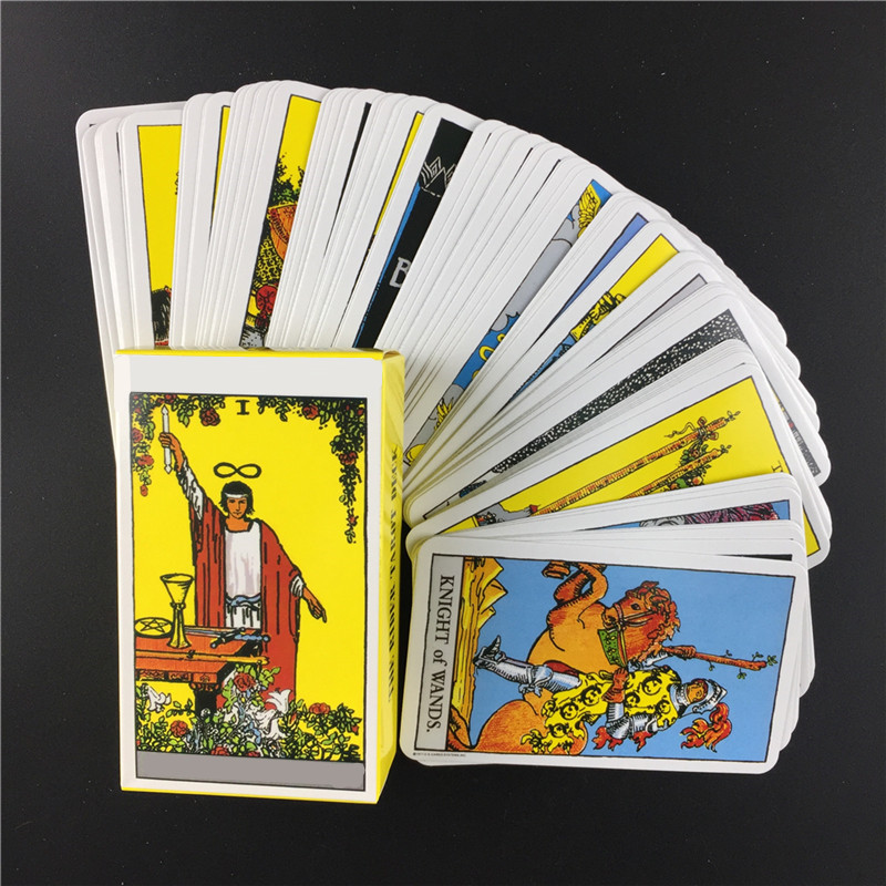 Full English Radiant Rider Wait Tarot Cards Factory Made High Quality Smith Tarot Deck Board Game Cards