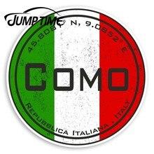 Tempo de salto como itália adesivos de vinil-bandeira italiana etiqueta de viagem luggagegedecal janela do carro pára-choques acessórios do carro