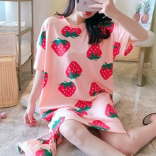 Short-sleeved Nightdress Large Size Female Summer Spring Thin Section Loose Home Service new pyjamas women s summer mesh double layer solid color lace princess short sleeved nightdress large size home service d180111