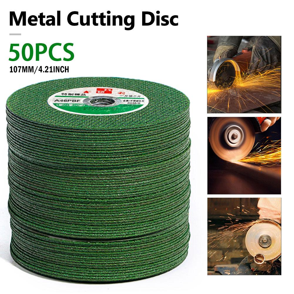 25/50PCS Resin Cutting Disc Grinding Wheel Abrasive Cutting Disc Drill For Stainless Steel&Metal 100mm Angle Grinder Accessories
