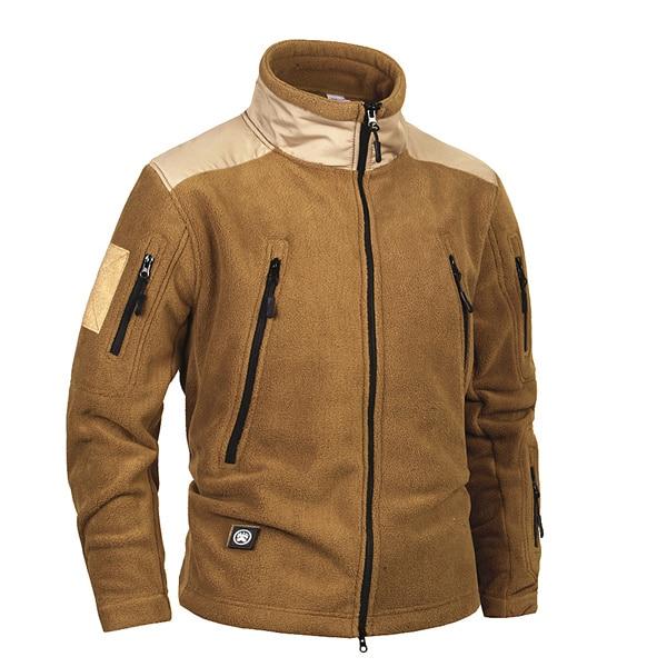 2019 Brand Clothing Coat Men Thicken Warm Military Army Fleece Jacket Patchwork Multi Pockets Polartec Men's Jacket And Coats