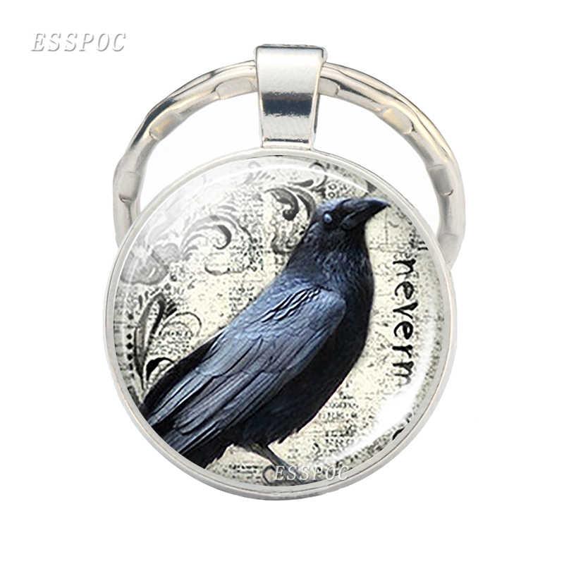 Брелок Robin Redbreast брелок с символами дружбы Кабошон стеклянный подарок дружеский подарок птица ювелирный брелок для ключей с рисунком дроздов брелок для ключей