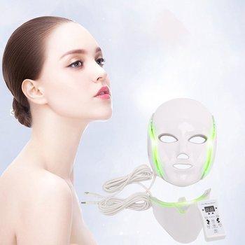 LED przyrząd kosmetyczny piękno skóry maska Instrument siedem kolorów Photon odmładzanie skóry maska Instrument spektrometr domu