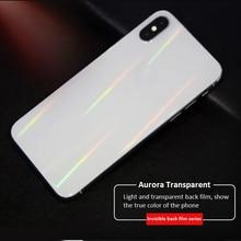 Для iPhone 7 7P 8 8P X XS XR XSMAX 11 11Pro MAX Aurora прозрачная задняя пленка для мобильного телефона защитная задняя мягкая пленка