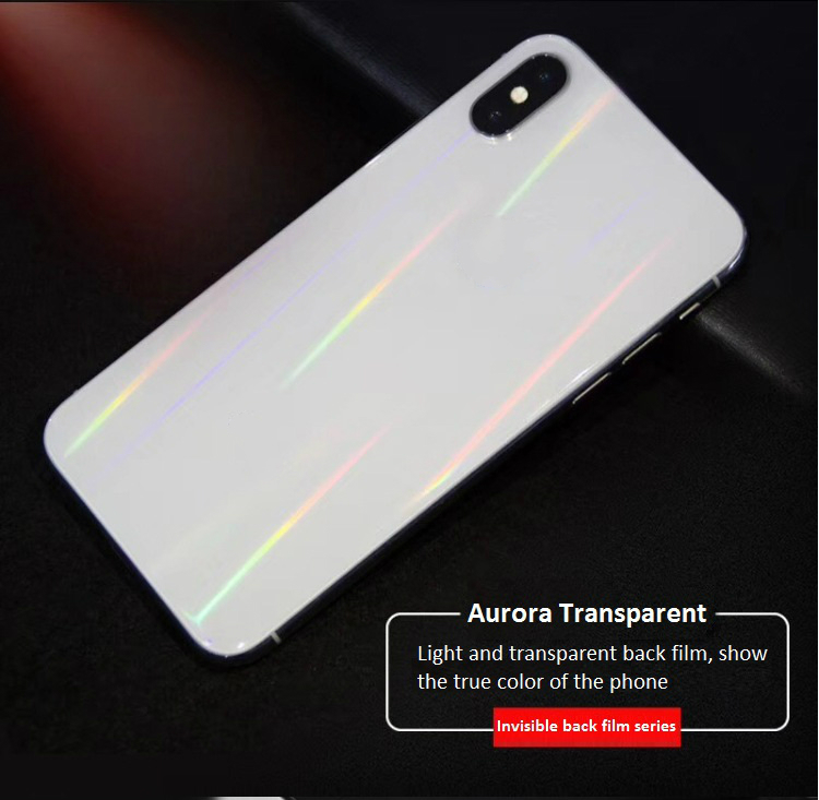 For IPhone 7 7P 8 8P X XS XR XSMAX 11 11Pro MAX Aurora Transparent Back Film Mobile Phone Protective Back Soft Film