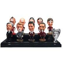 Soccerwe soccerwe soccer dolls 6.5cm altura pacote individal por # t. Muller sane lewandowski figuras vermelho kit 2021 brinquedo presente
