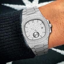 Patek-reloj de cuarzo para hombre, deportivo, chapado en platino, resistente al agua hasta 30M, de acero inoxidable, masculino