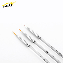 Get more info on the YALIAO 3pcs Nail Art Liner Drawing Brush Nail Art Pencil Acrylic Pen Stripes Painting Manicure DIY Tool Transparent Plastic Hand