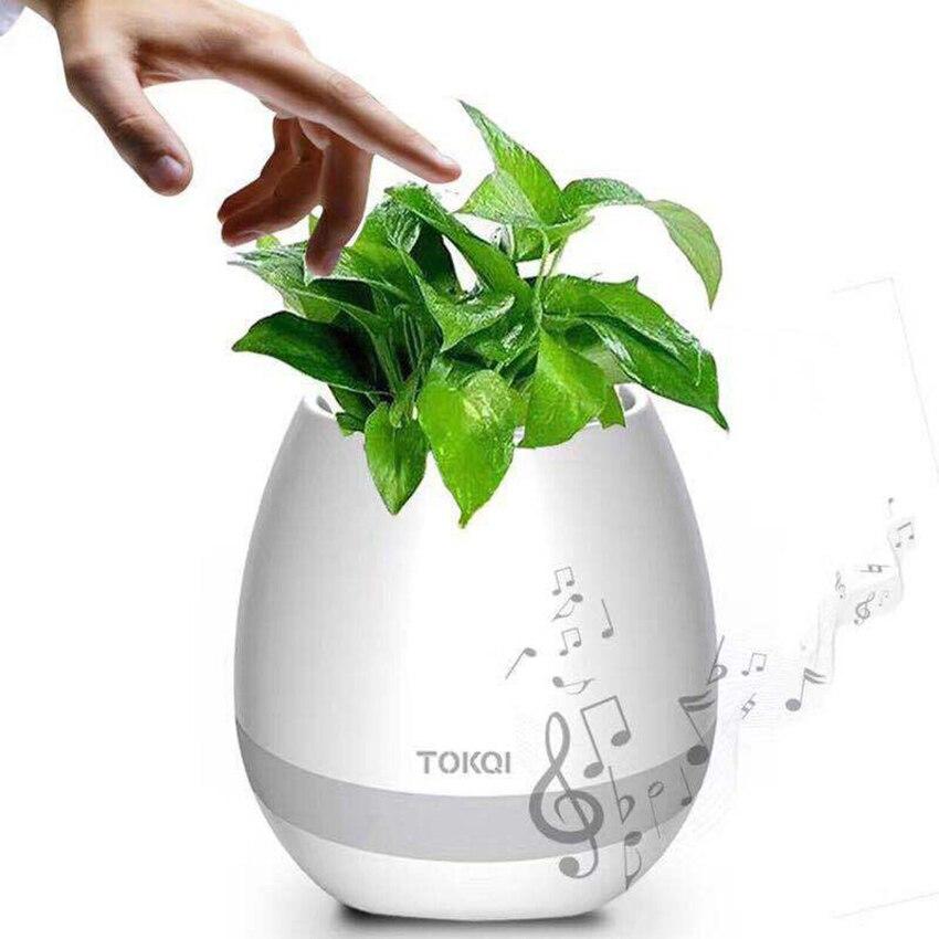 Smart Fleur Pot herbe jardin en Pot plante Fleur capteur hydroponique Bluetooth haut-parleur Pot De Fleur Boom boîte stéréo décoratif