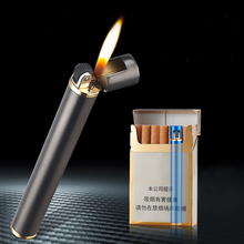 Mini Cigarette Lighter Grinding Wheel Flint Free Fire Butane Gas Lighter Portable Can Be Placed Cigarette Box Smoke Accessories trash can shaped butane gas lighter yellow