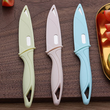 Candy Color Stainless Steel Paring Knives Portable Protective Cover Sharp Fruit Knife European Style