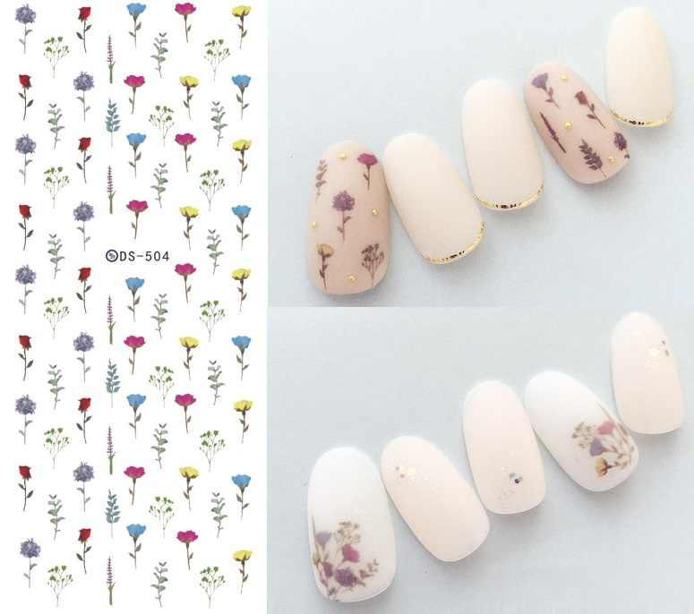 花柄パターン! 爪アートマニキュア水デカール装飾デザイン水転写ネイルズのヒント美容