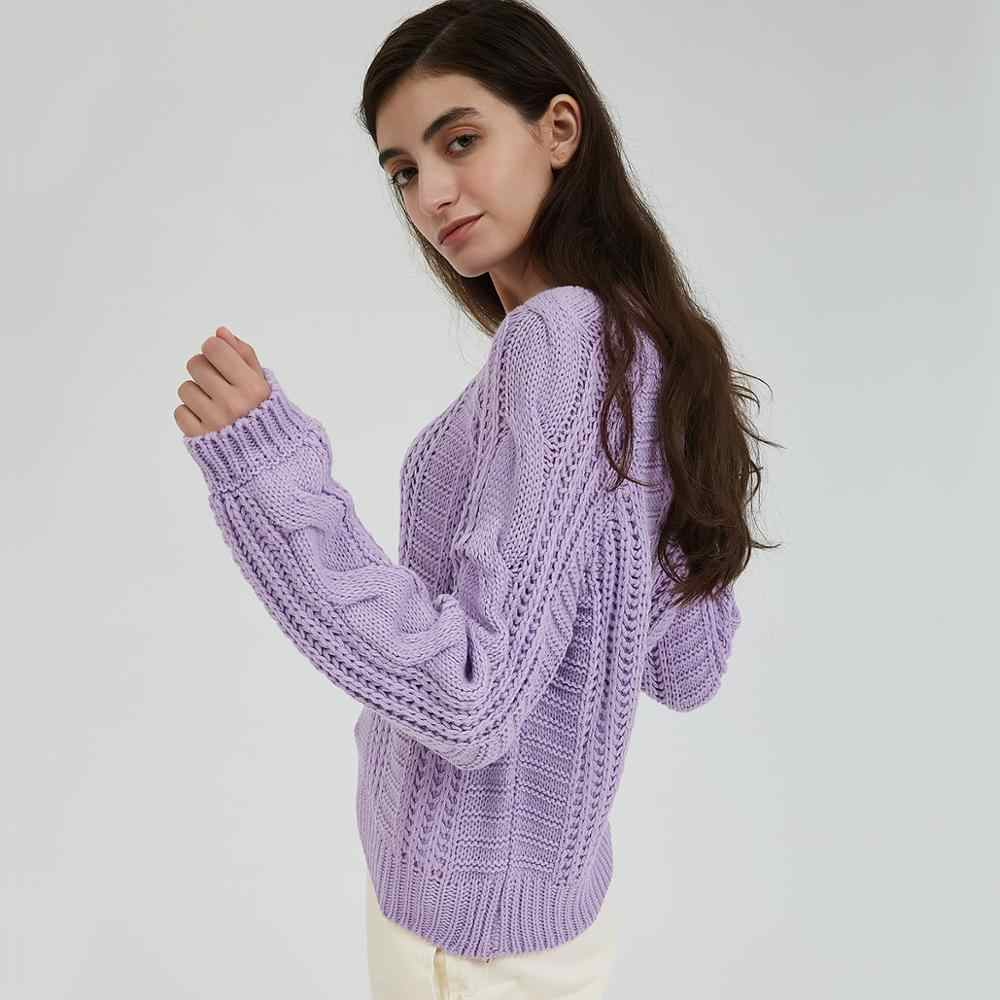 Wixra 女性セーター 2019 ソリッドカラーの女性の O ネックルース女性ニットセータープルジャンパー秋春