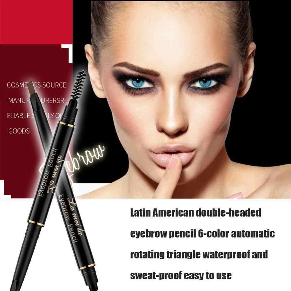 5-צבע גבות עיפרון צבע טבעי דיו לטווח ארוך קעקוע לצבוע עט עם מברשת עמיד למים וצבעי מים הוכחה איפור סט
