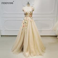חדש 2019 שמלות ערב ארוך עם חריץ אחד כתף חרוזים פרח ערב שמלת פורמליות המפלגה שמלת Vestido דה פיאסטה דה noche