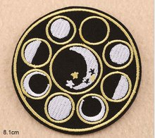 Black White Theme Series Hand Devil Moon Sun Poo SGC Embroidery Clothes Patch For Clothing Iron On Patch Punk Applique Accessory
