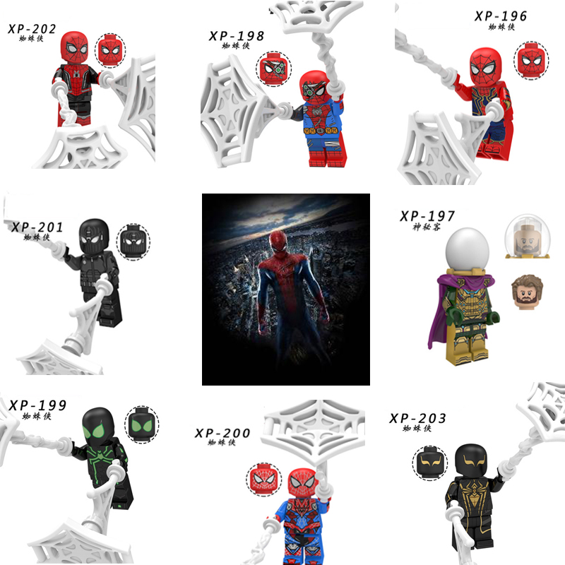 For Legoelys Figures Marvel Avengers Spiderman Ultimate Spider-Man Noir Gwenom  Marvel Mini Building Blocks Toys Figure