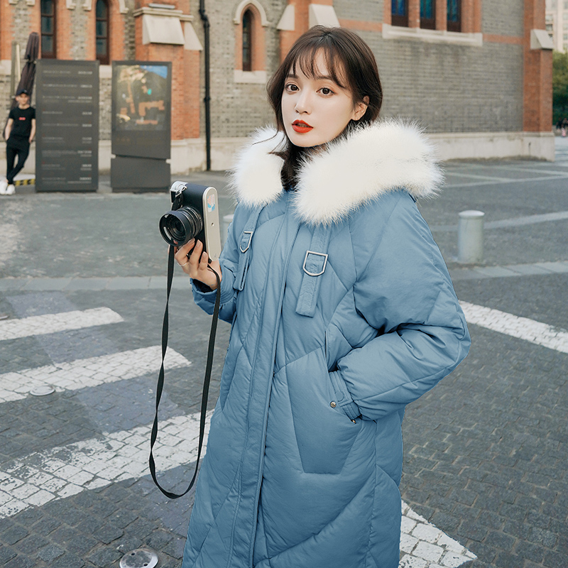 Fake Fur Long   Parkas   Women Down Jacket 2019 Winter Jacket Women Plus Size Loose Thick Warm Snow Wear Winter Coat Women Clothing