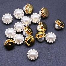 Жемчужные бусины с искусственными бриллиантами круглые имитацией