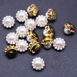 2019 новые жемчужные бусины для создания искусства, круглые бусины имитация жемчуга с искусственными бриллиантами 8-16 мм Sz-098