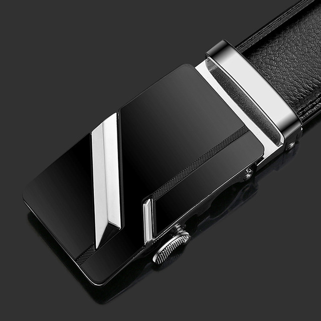 2020 Famous Brand Belt Men Top Quality Genuine Luxury Leather Belts for Men Strap Male Metal Automatic Buckle men belts 2