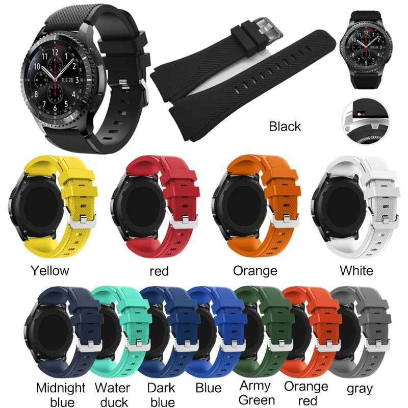 Soft Silicone Replacement Watch Band Wrist Strap Sport Watch Bracelet Belt For Samsung Galaxy Watch 46MM