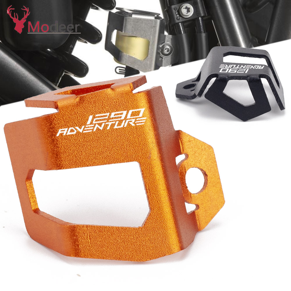 Motorcycle CNC Rear Brake Fluid Reservoir Guard Cover Protect For <font><b>KTM</b></font> <font><b>1290</b></font> <font><b>Super</b></font> <font><b>Adventure</b></font> R <font><b>S</b></font> T adv 2016 2017 2018 <font><b>2019</b></font> 2020 image