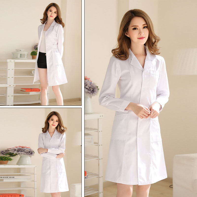 Medical Clothing Women Medical Gown Lab Coat White Coat Clothes For Doctors Summer And Spring