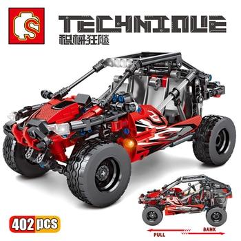 SEMBO Technic City Car Speed Sports Car Building Block Model Bricks MOC Set Off-Road ATV Vehicle Toys For Children Boy Gifts недорого