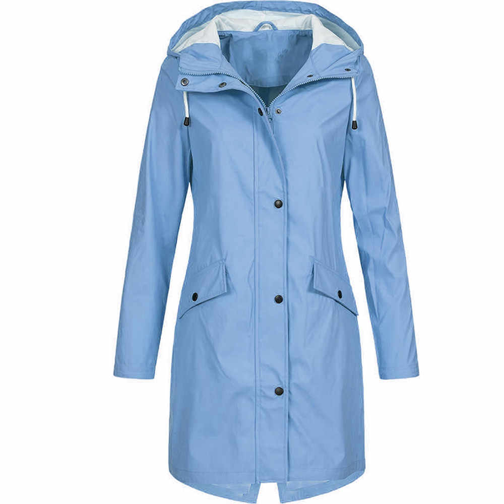 Regenmantel Frauen Undurchlässig Wasserdicht Winddicht Regen Mantel Windcoat bike Plus Größe Jacke Capa de chuva Regenhoes Dropshipping