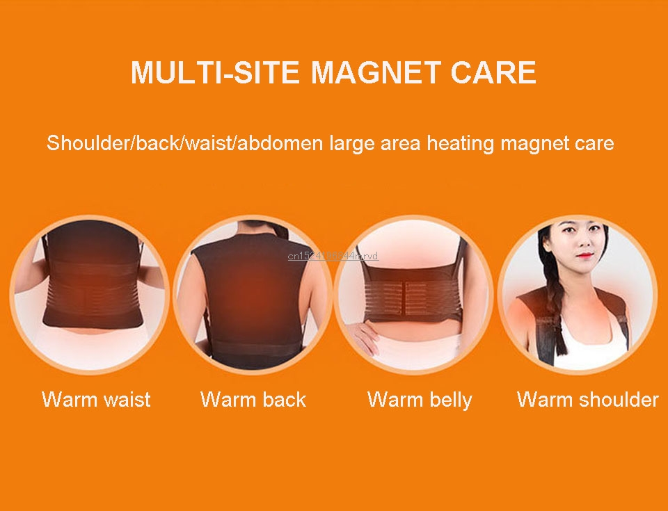 3 in 1 tomalin self-heating shoulder shirt vest magnetic therapy vest vest high-grade sleeveless vest waist