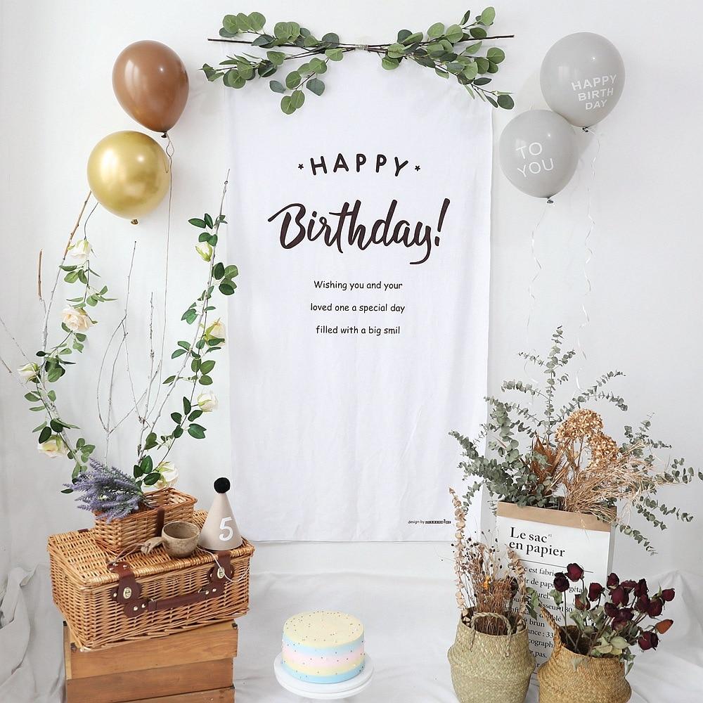 6.59US $ 30% OFF ins birthday decoration 100DAYS High quality corduroy fabric background children's ...