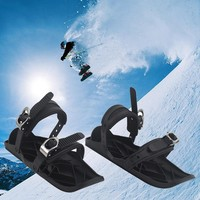 Skiing Mini Sled Outdoor Snow Board Ski Boots High Quality Adjustable Bindings Portable Skiing Shoes Combine Skates With Skis