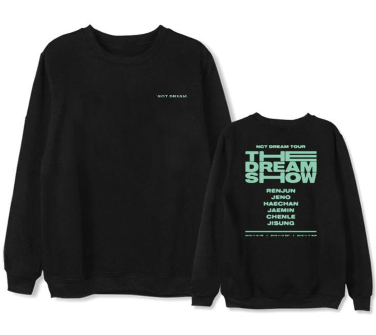Nct Dream Concert The Dream Show Same All Member Names Printing Sweatshirt Kpop Unisex Fleece/thin Pullover Hoodies