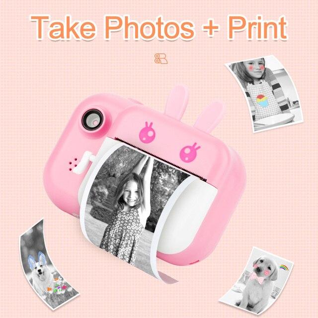 Детский фотоаппарат с мгновенной печатью Minibear H6