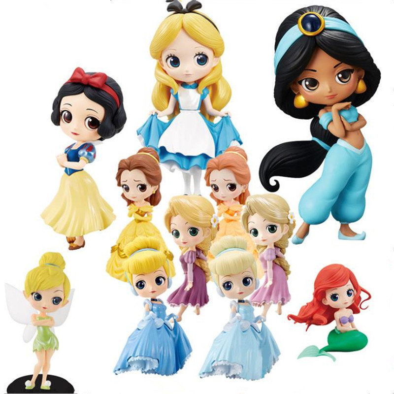 11cm q posket princesa figura brinquedos huamulan alice princesa figura de ação modelo coleção pvc brinquedos bolo topper decoração do bolo