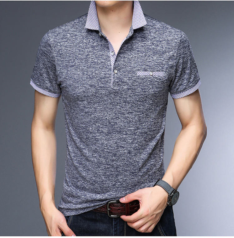 Business Mens Polo Shirt Brands Clothing 2019 Short Sleeve Summer Shirt Man Pink Cotton Poloshirt Men Plus Size Polo Shirts